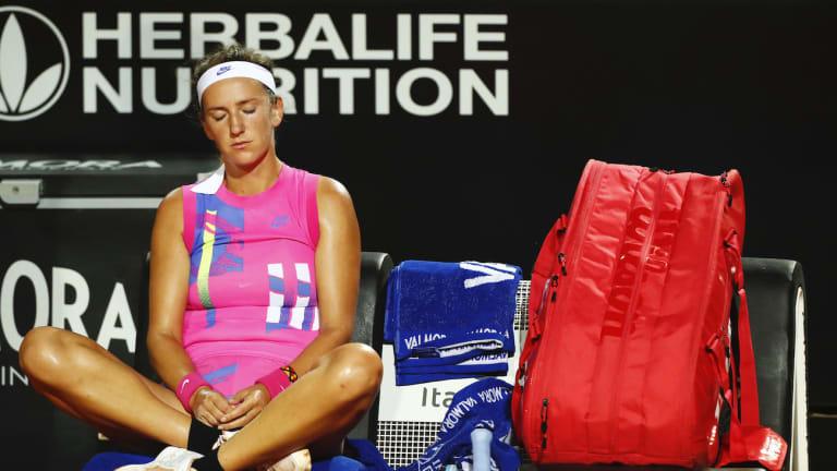 Azarenka bagels  former doubles  partner Kenin
