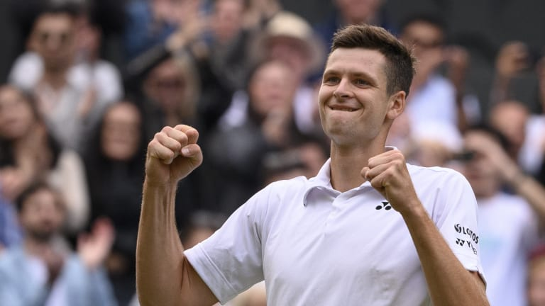 Hurkacz is the first player to win a 6-0 set over Federer at Wimbledon.