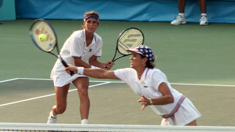 Gigi Fernandez won two gold medals at the 1992 and 1996 Olympics, alongside Mary Joe Fernandez. (AP)