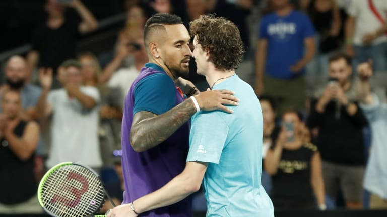 If Kyrgios vs. Humbert is anything like the pair's Melbourne matchup, fans are in for a real treat.