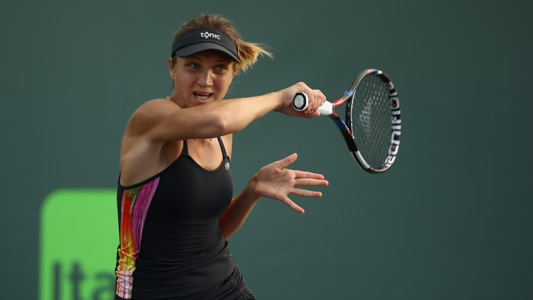 Bouchard saves seven match points but falls to Tig in Istanbul final