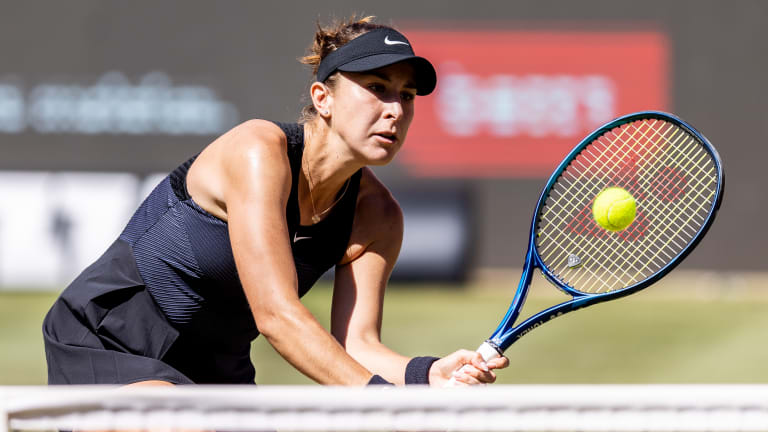The world No. 12 will try to pick up momentum on the new surface this week in Berlin. She edged past Jule Niemeier, 4-6, 6-4, 7-5, to stay alive at the WTA 500 event.