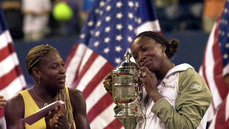 Serena and Venus Williams, after their 2001 US Open final.