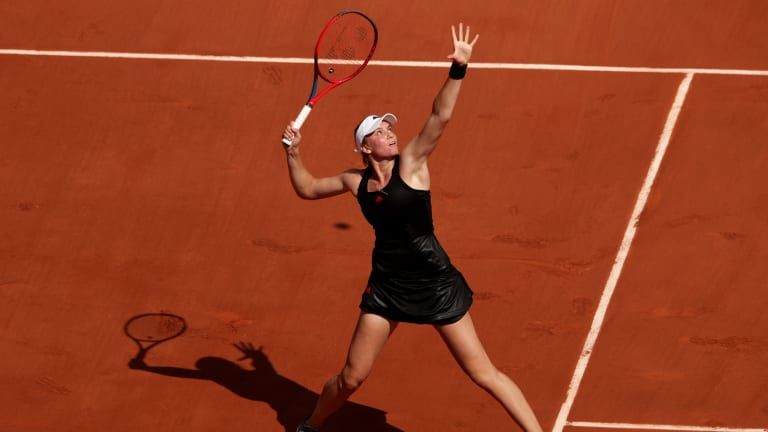 Rybakina had yet to drop a set in Roland Garros, upsetting Serena Williams in the previous round (Getty Images).