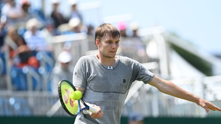 Alexander Bublik's unorthodox approach to tennis includes a hasty—but often effective—return of serve.