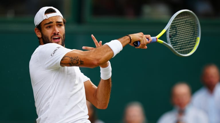 Berrettini's booming forehand is a game-breaker on grass.