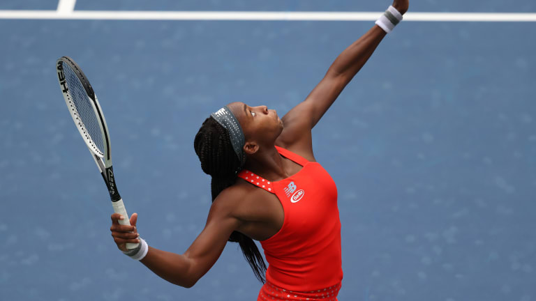 Coco Gauff fights but falls to US Open standout Sevastova in round one