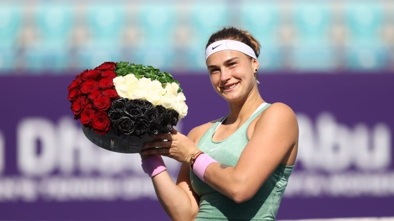On-fire Sabalenka completes dream start to 2021 with Abu Dhabi title