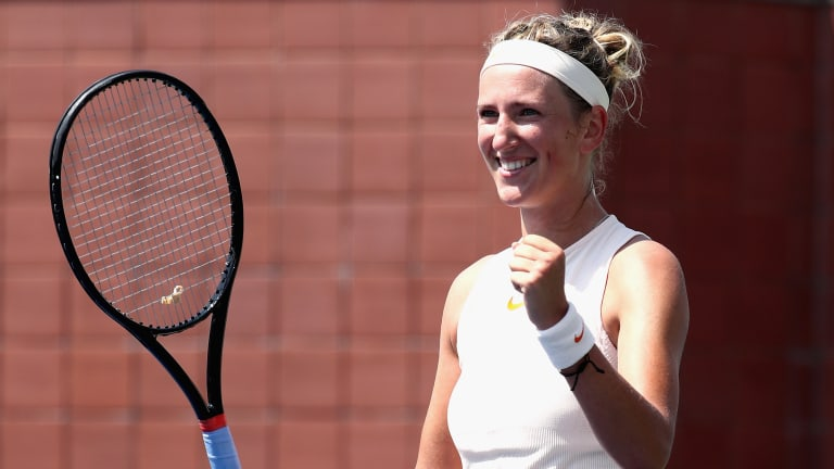 Azarenka flashes championship form in win over Gavrilova at US Open