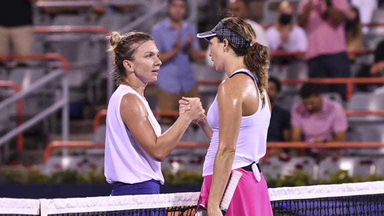 Collins' win over Halep was her 12th in a row after winning back-to-back titles in Palermo and San Diego.