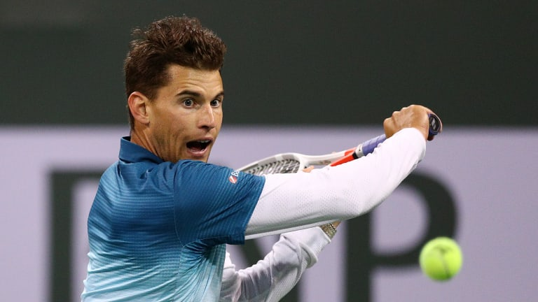 Rejuvenated Thiem ready to face red-hot Raonic in Indian Wells semis
