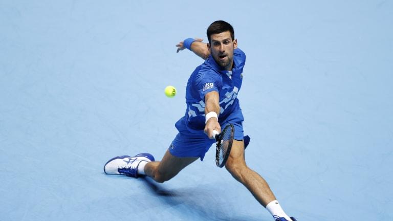 No fans, no problem for Djokovic in win over Schwartzman at ATP Finals