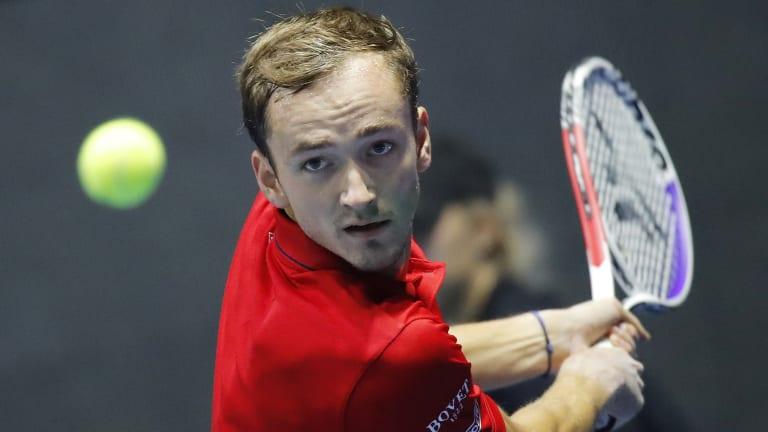 Medvedev, Khachanov experience mixed results in St. Petersburg openers