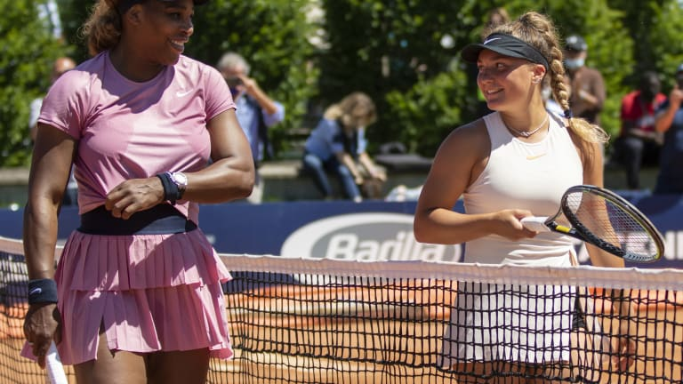 Serena Williams shines in Parma debut over Italian teen Lisa Pigato