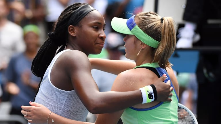 In the beginning of Kenin v. Gauff, a decisive end, in Sofia's favor