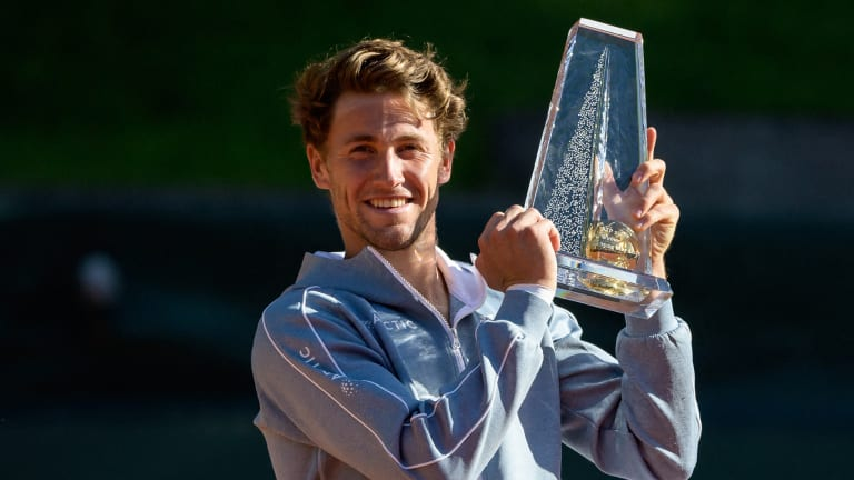 Ruud captured his first title of the season in Geneva.