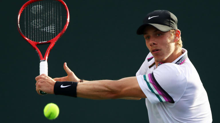 In beating Cilic, Shapovalov puts on a show during and after the match