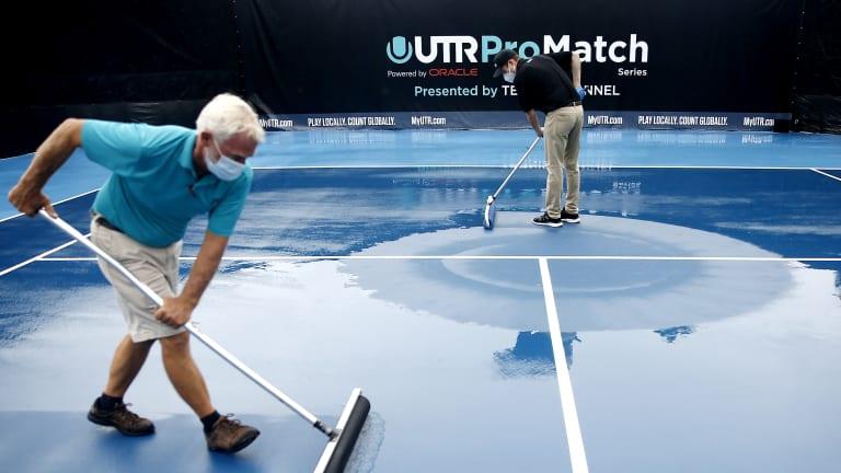 Rain denies players chance to complete women's UTR Pro Match Series