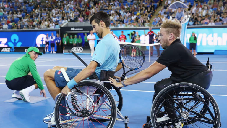 The Grandy Man: Quad star Dylan Alcott aims for two Slams at US Open