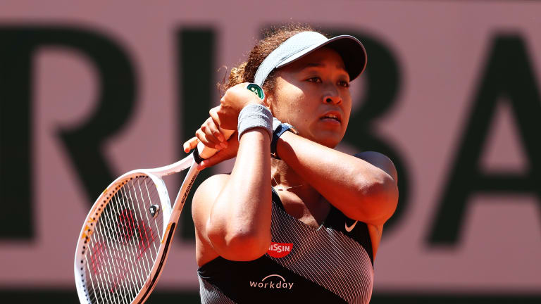 There was plenty of focus on Naomi Osaka in Paris on Sunday, both for her on-court play, and her off-court boycott.