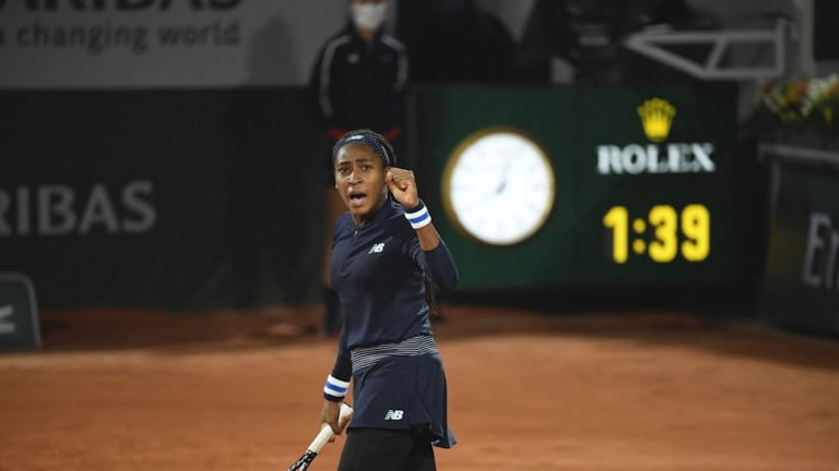 Gauff talks serving issues and standing up against racial injustices