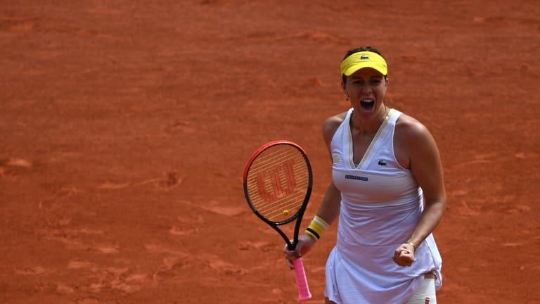 Pavluychenkova played Hantuchova in her first Grand Slam main draw in 2007 (Getty Images).