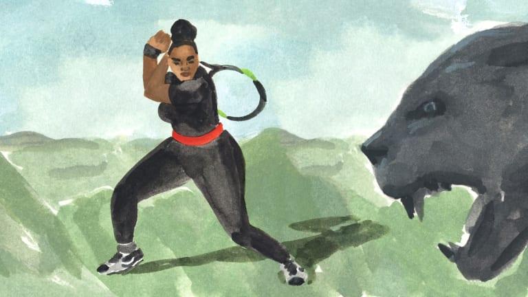 Serena's 2018 Roland Garros bodysuit. Illustration by: Leah Goren