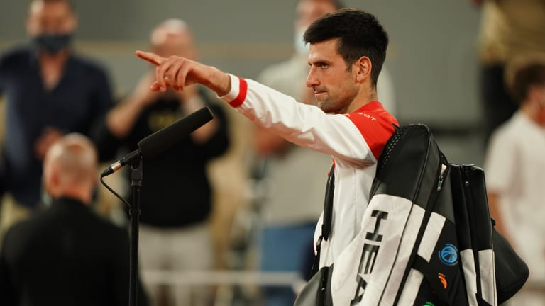 """Djokovic didn't flip his """"God Mode"""" switch to come out flat in Sunday's final."""