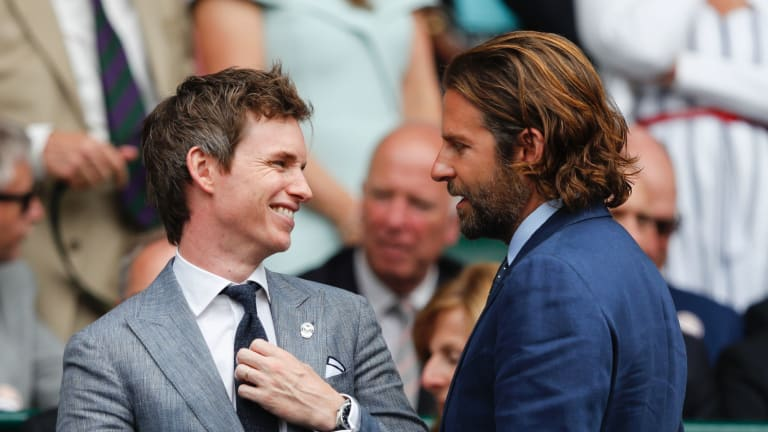 Pre-pandemic, Eddie Redmayne and Bradley Cooper frequently attended tennis tournaments, including Wimbledon.