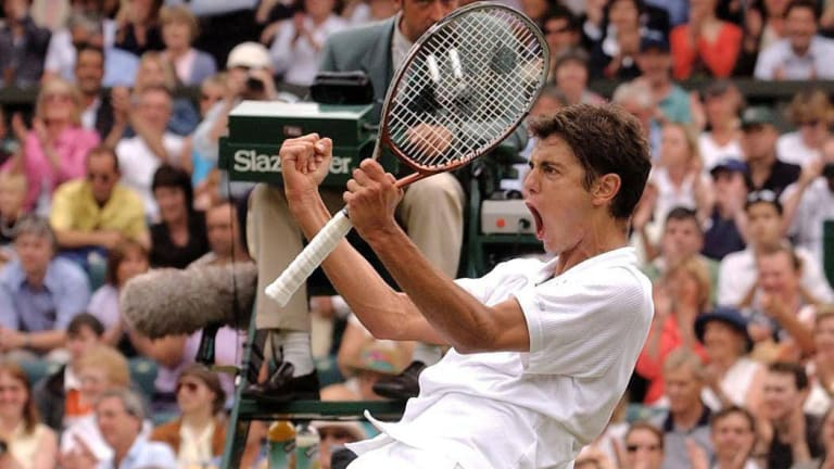 Ranked No. 154 and making his major debut at the age of 18, Ancic stunned then No. 9 Federer in straight sets 19 years ago at Wimbledon.