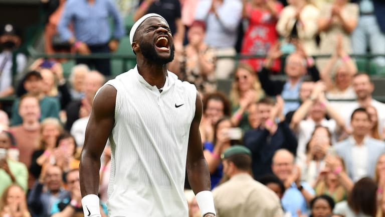 Tiafoe last won a match at Wimbledon in 2018, when he reached the third round (Getty Images).
