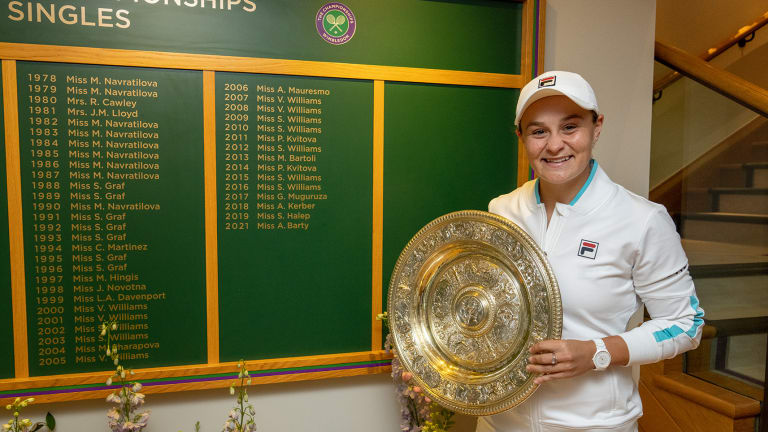 Barty won the first three-set ladies' final at the All England Club in nine years.