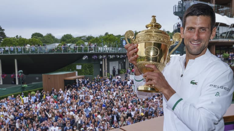Djokovic is now 20-10 in Grand Slam finals (6-1 at Wimbledon).