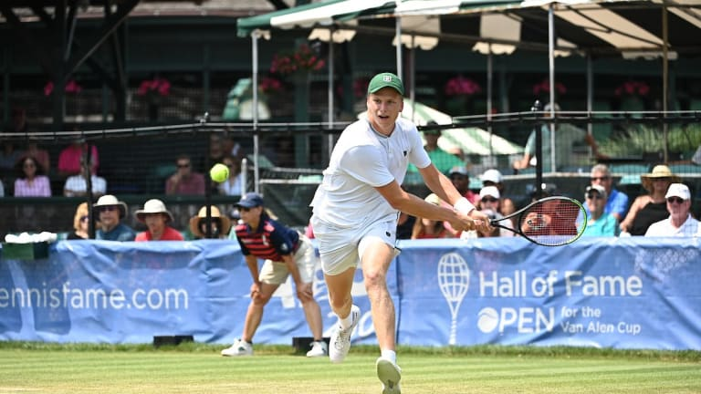 Brooksby is aiming to become the sixth first-time winner on the ATP tour this year and second American after Sebastian Korda. (Photo: Hall Of Fame Open)