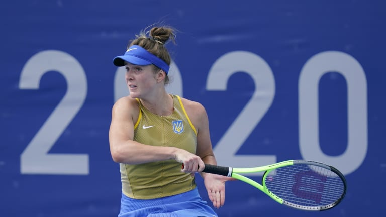 Svitolina wins her second-round match at the Tokyo Olympics.