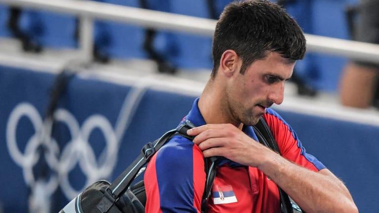 Djokovic won his first nine singles sets at the Ariake Tennis Park, before his tournament took a turn south.