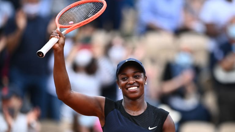 Stephens shook off a brutal start to find an excellent form on Tuesday night.