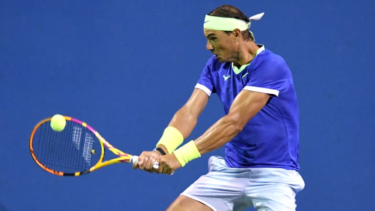 Sock played his best tennis but once again Nadal was unflappable under pressure.