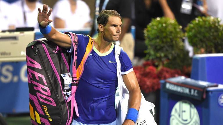Nadal was playing just his second match in 55 days on Thursday night, having beaten Sock on Wednesday night.