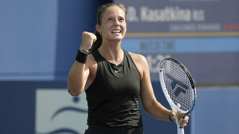 Kasatkina began the year outside the Top 70, but will be back inside the Top 30 come Monday.