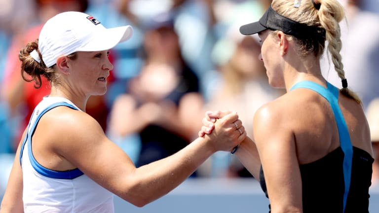 Barty has now won her last three meetings with Kerber.