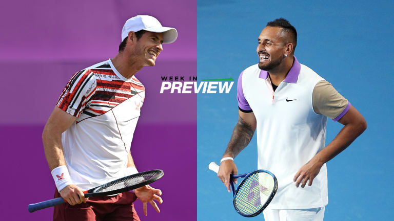 Kyrgios got on the board in his head-to-head series with Murray for the first time in six tries when the two last met in 2018 at Queen's Club in London.