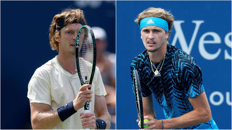 Rublev hadn't won a set against Medvedev in four prior tour meetings until his win Saturday. Will history repeat itself a day later? Zverev is 4-0 and has won all nine sets they've played.