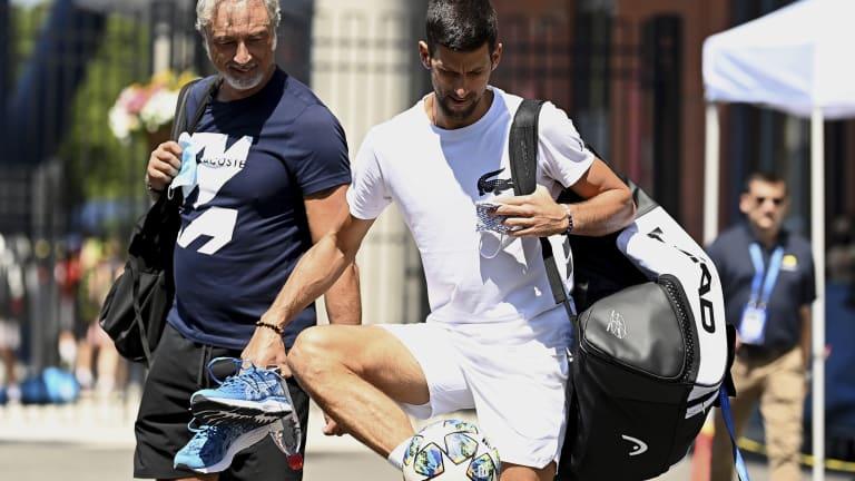 Fútbol, anyone? World No. 1 Novak Djokovic was in the mood for some.