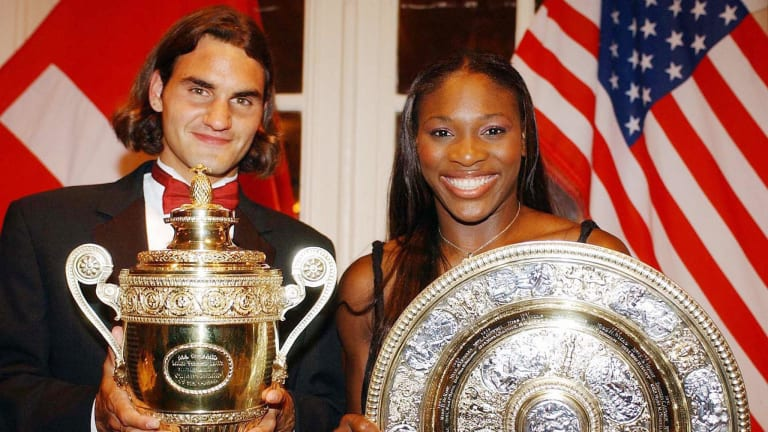 When Federer joined the major winner's club at Wimbledon in 2003, he stood alongside a master of the big stage. By that time, Serena had raced out a 6-1 record in Grand Slam singles finals.
