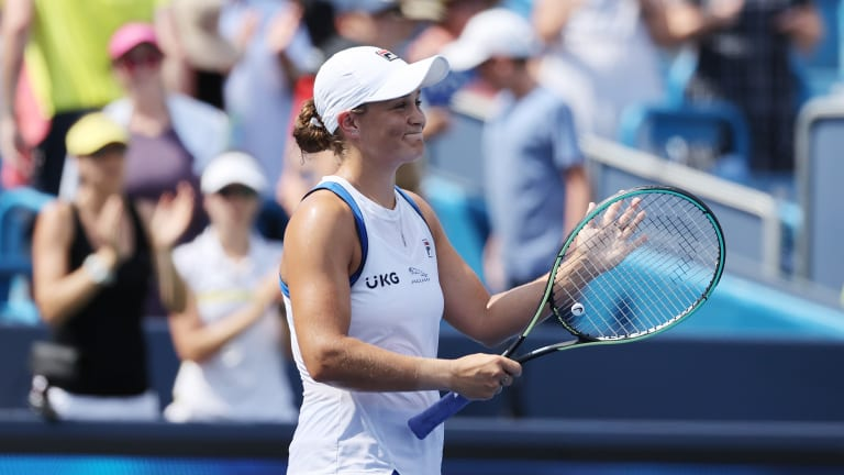 Barty is 40-7 on the year, picking up five trophies along the way.