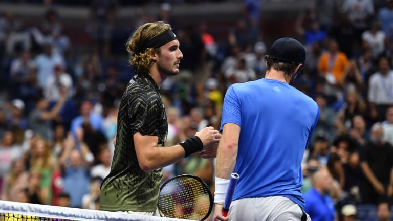 Despite the contest's collective brilliance, there wasn't much of a handshake when Tsitsipas and Murray met at net.