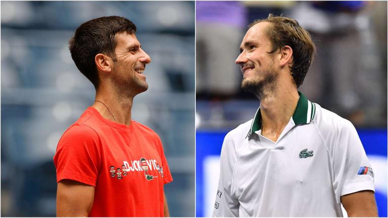 Djokovic is 5-3 overall against Medvedev (2-0 in majors).