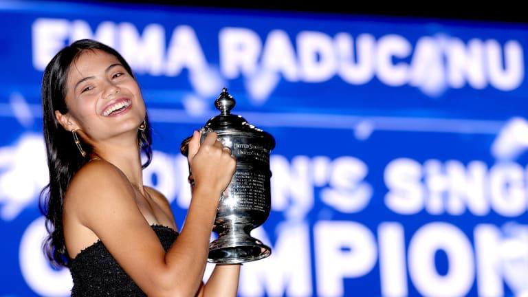 At Wimbledon, Raducanu was ranked No. 338 in the world and No. 10 in Britain—that's now No. 23 in the world and No. 1 in Britain.