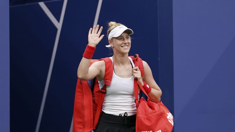 Riske has won eight of the nine sets she's played this week.